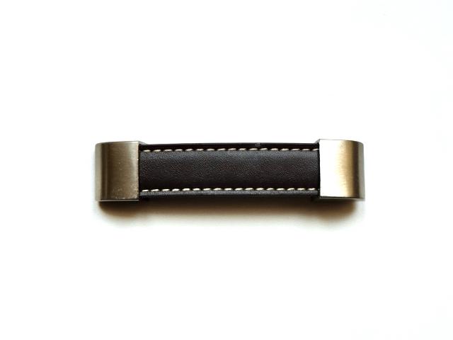 画像1: 「J即納/F在庫」取っ手:合皮革11.5cm(ダークブラウン) /60g (1)
