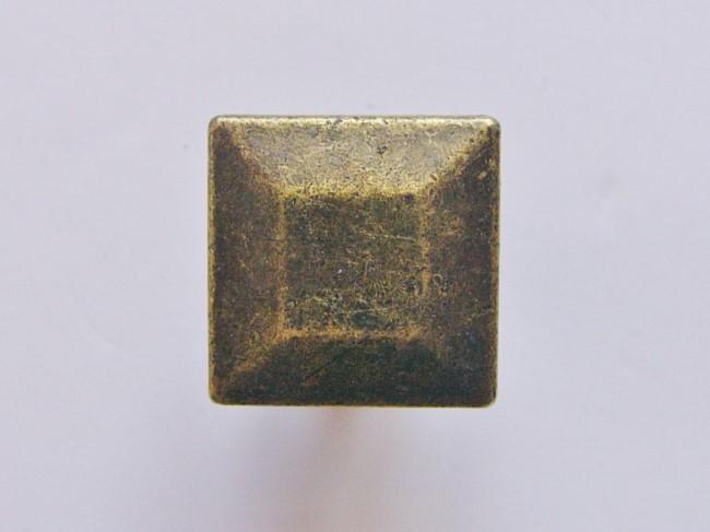 画像1: 「即納F」取っ手:スクエア22mm(アンティークゴールド)/45g (1)