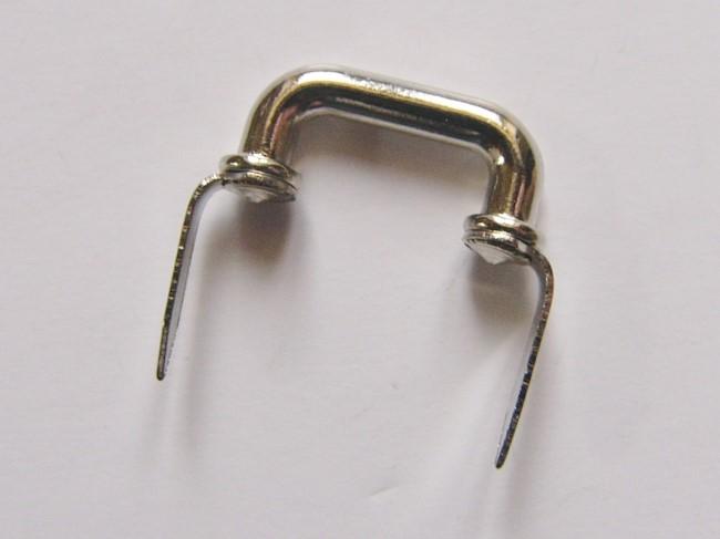 画像1: 「即納F」つまみ金具:凹型差し込み式金具19mm(シルバー)/15g (1)