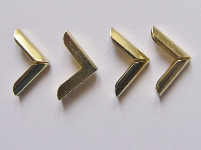 画像1: 「即納F」角金具ゴールド15mm×15mm 4個セット/10g (1)