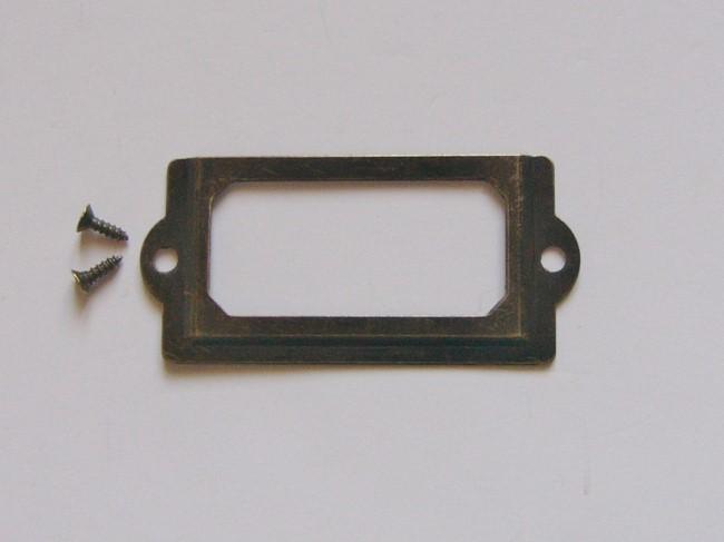 画像1: 「移動中/即納F」ネームプレート70x33mm(アンティークゴールド) /20g (1)