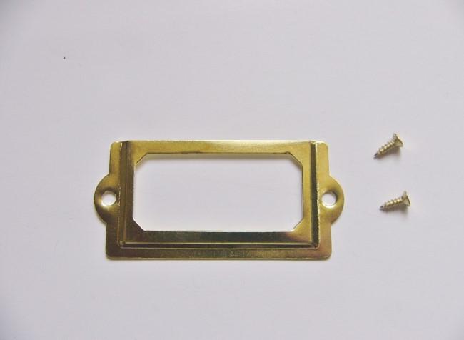 画像1: 「移動中/即納F」ネームプレート70x33mm(ゴールド) /20g (1)