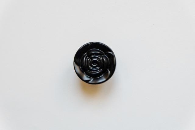 画像1: 「即納F」取っ手:バラ径3.2cm(黒) /55g (1)
