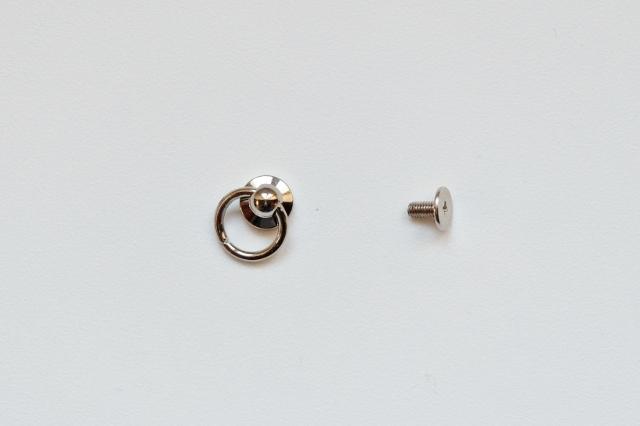 画像1: 「即納J」ミニリングつまみ金具シルバー/10g (1)