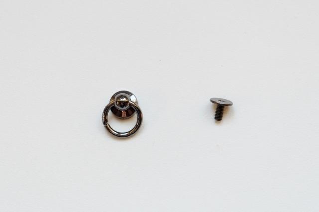 画像1: 「即納J」ミニリングつまみ金具ブラック/10g (1)