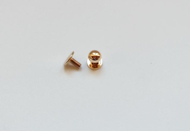 画像1: 「即納J」つまみ金具6mmシャンパンゴールド/10g (1)