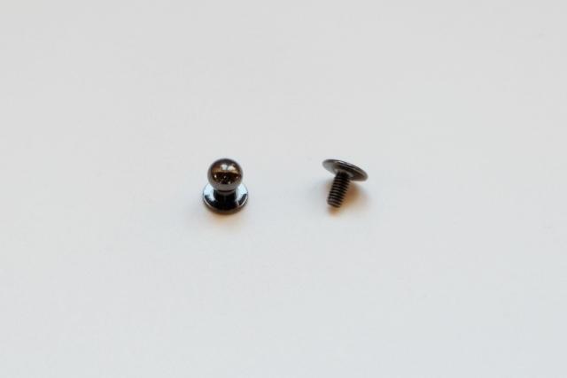 画像1: 「J即納」つまみ金具6mmブラック/10g (1)