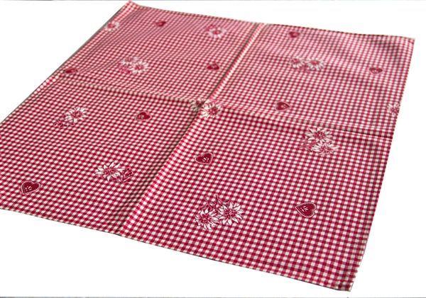 画像1: 「即納J/即納F」テーブルナプキン2枚セット:モンターニュ(赤・チェック) /80g (1)