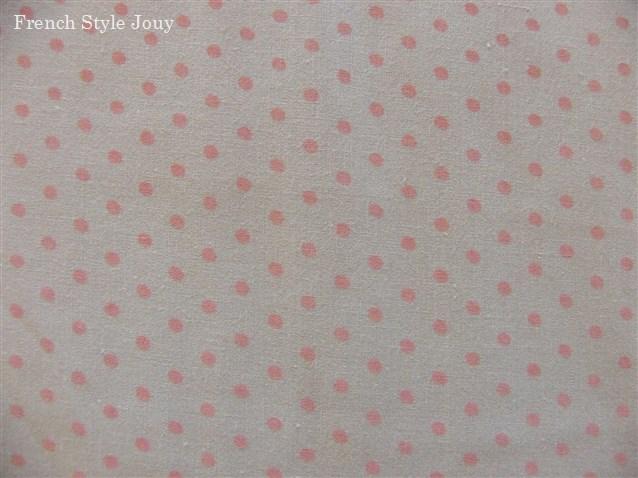 画像1: 「J即納/F在庫」布:ドッツ(ライトグレイベースピンク)長さ50cm単位 (1)