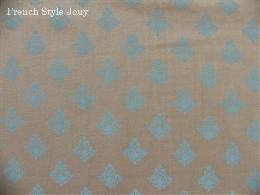画像1: 「J即納/F在庫」廃盤布:ラトゥナ(グレイベースブルー)長さ50cm単位 (1)