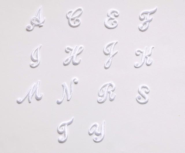 画像1: 「J即納」ワッペン:アルファベット(ホワイト) /3g (1)