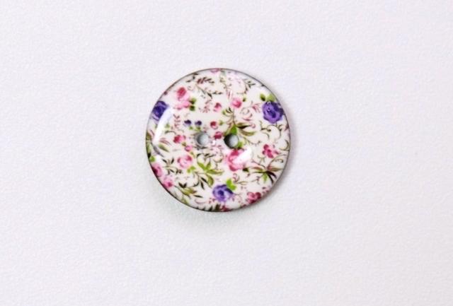 画像1: 「移動中」ボタン:マリー(ピンク・紫花)23mm  /3g (1)