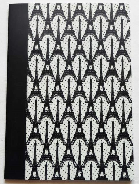 画像1: 「F在庫」ノートClairefontaine(Les Cakes de Bertrandコレクション エッフェル塔黒、A4)/320g (1)