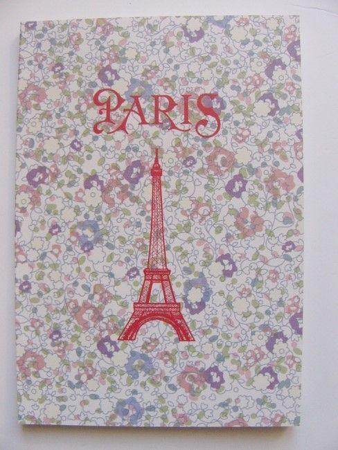 画像1: 「即納J」ノート:リバティプリント・パリ(ピンク、約A5サイズ)/125g (1)