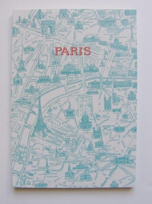 画像1: 「即納J」ノート:パリの地図(ブルー、約A5サイズ)/125g (1)