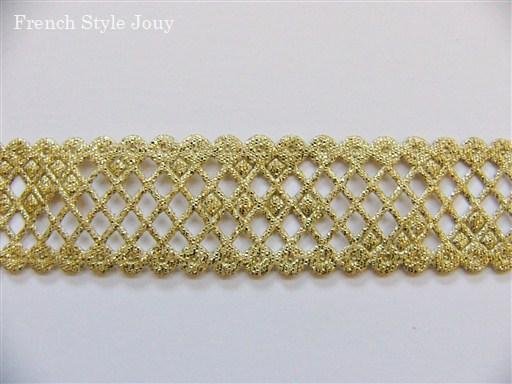 画像1: 「即納J」ガロン:クロワジヨン2cm(ゴールド) /6g (1)