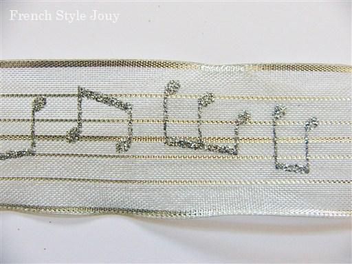 画像1: 「即納J」リボン4cm音符(シルバー) /8g (1)