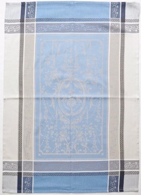 画像1: 「即納J/即納F」フキン:ヴェルサイユ(ブルー・生成り)50x70cm /100g (1)