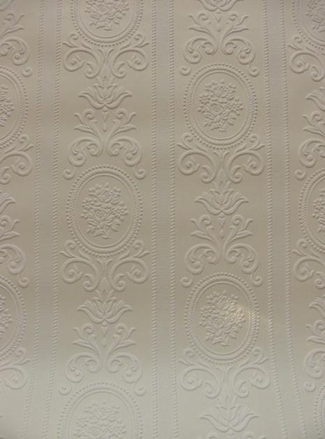 画像1: 【送料込み】「即納F」壁紙:ヴェルサイユ(ホワイト)10m巻き /1500g (1)