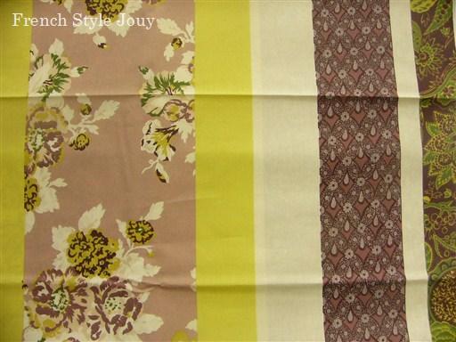 画像1: 「取寄せ」布:撥水加工ボヘミアン(グリーン) 長さ50cm単位 /180g (1)