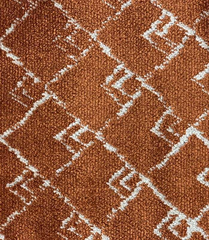 画像1: 「取寄せ」布:キリマンジャロ(ジャカード、ベルベット、テラコッタ)長さ50cm単位/450g (1)