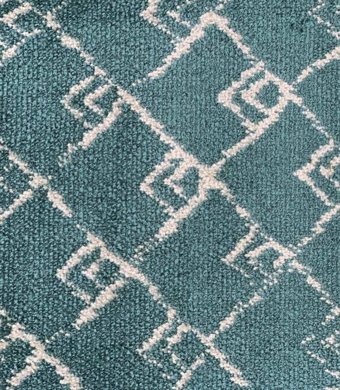 画像1: 「取寄せ」布:キリマンジャロ(ジャカード、ベルベット、ブルー)長さ50cm単位/450g (1)