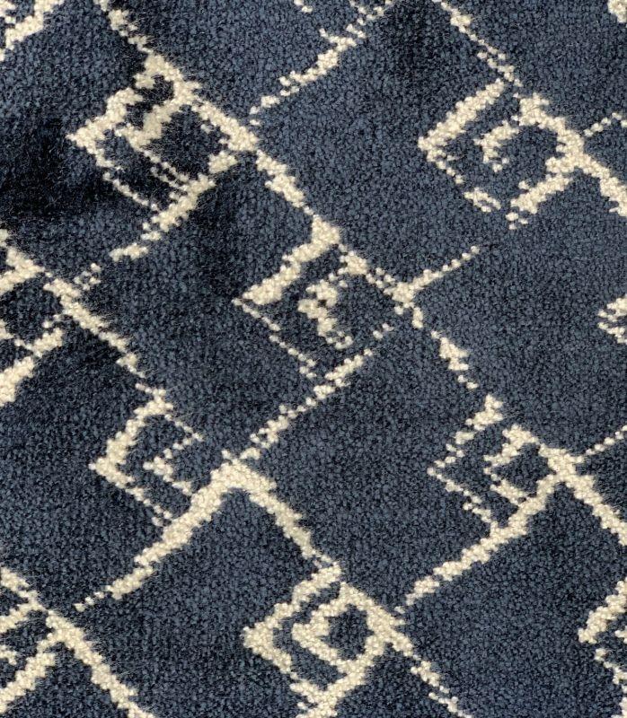 画像1: 「取寄せ」布:キリマンジャロ(ジャカード、ベルベット、マリンブルー)長さ50cm単位/450g (1)