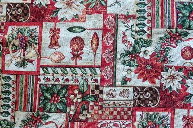 画像1: 「F在庫」はぎれ70x50:ゴブラン織り ブール・ド・ノエル(クリームベース)/155g (1)