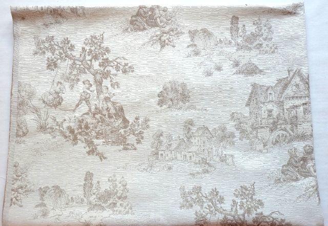 画像1: 「即納F」はぎれ70x50:オルレアン・ロイラ(ベージュ、ジャカード) /135g (1)