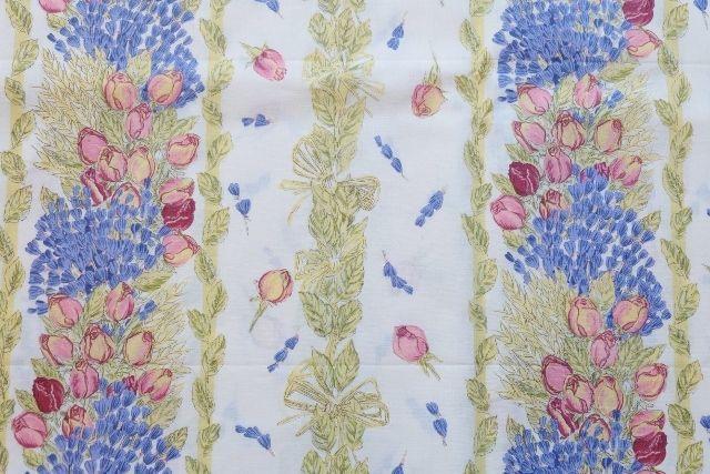 画像1: 「J即納」はぎれ80×50:ロゼ・エ・ラヴァンデ(ブルー・ローズ) (1)