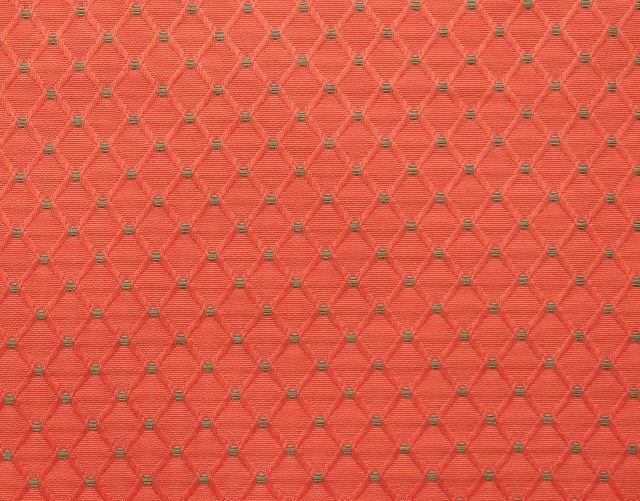 画像1: 「F在庫」はぎれ75x50:ワグナー(ジャカード、コーラルベースグリーン)/150g (1)