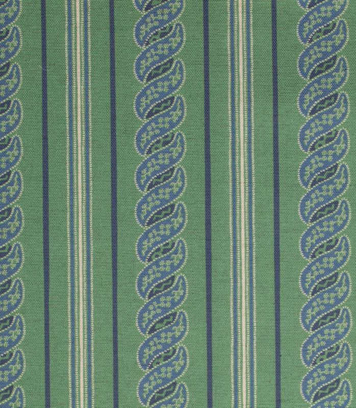 画像1: 「取寄せ」布:メネルベス(ストライプ、タイムグリーンベース)/450g (1)