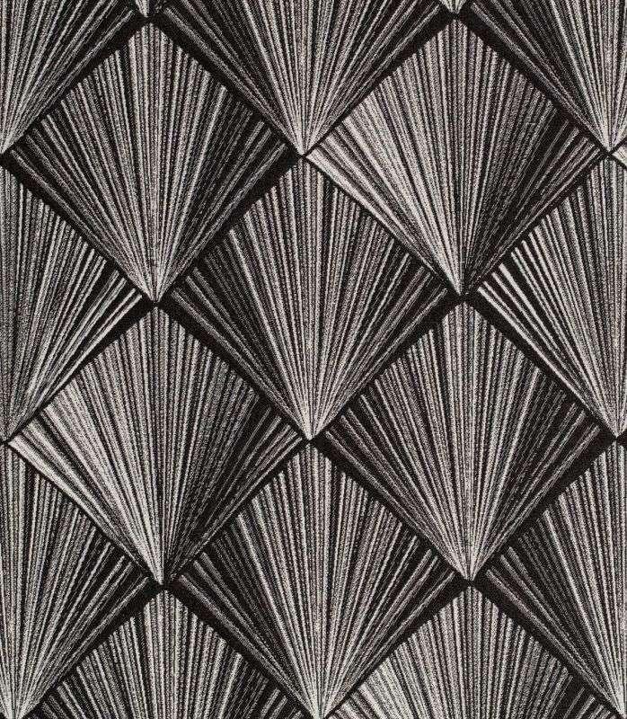 画像1: 「取寄せ」布:トリアングルドール(ジャカード、黒)/460g (1)