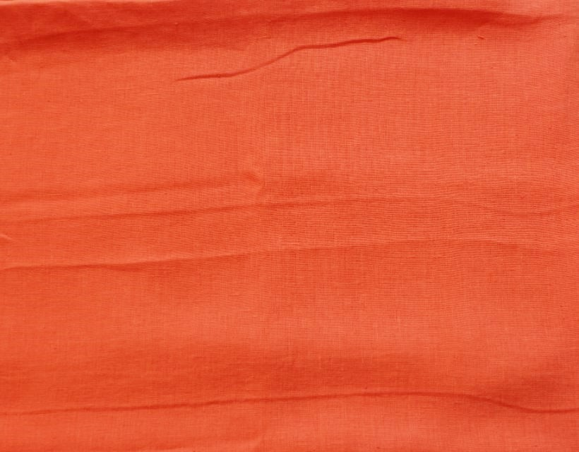 画像1: 「F在庫」はぎれ70×50:ラーヴ(色番88マンダリン、麻) (1)