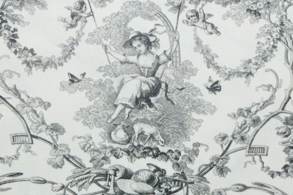 画像1: 「J即納」はぎれ70×50:ブランコに乗った少女(白ベースグレイ) (1)