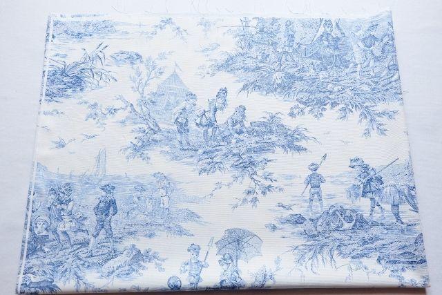 画像1: 「即納J/F」はぎれ70×50:水の物語(白ベースブルー) /95g (1)