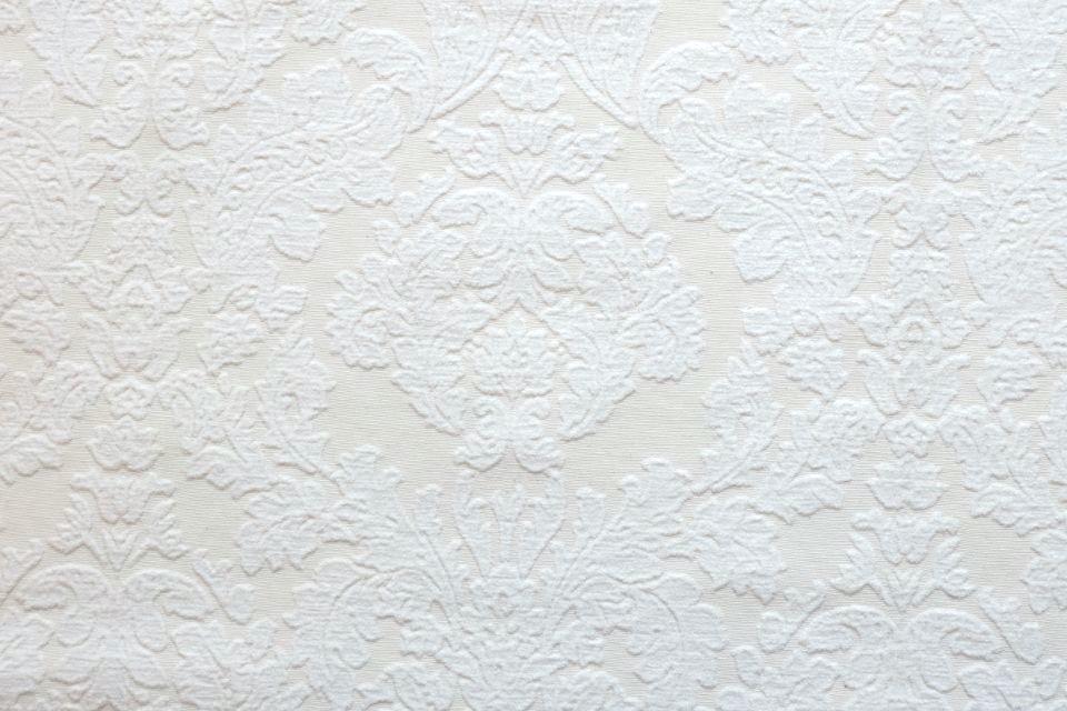 画像1: 「即納J」はぎれ70×50:ダマスク(シュニーユ、ジャカード、ホワイト)/105g (1)