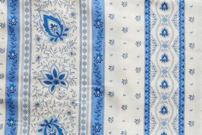 画像1: 「移動中」はぎれ80x50:アヴィニヨンII(プロヴァンス風、ブルー・ホワイト)/80g (1)