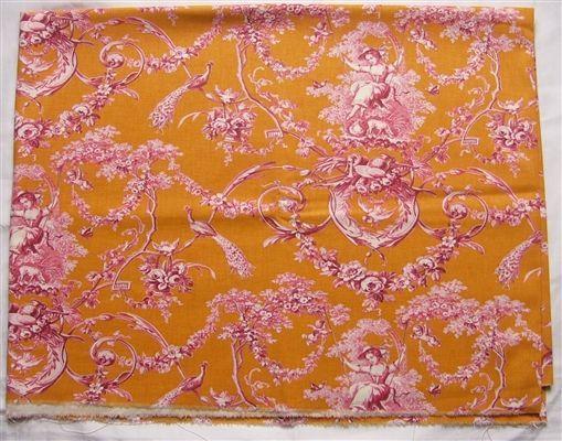 画像1: 「即納J」はぎれ70×50:ブランコに乗った少女(オレンジベースピンク)/ 95g (1)