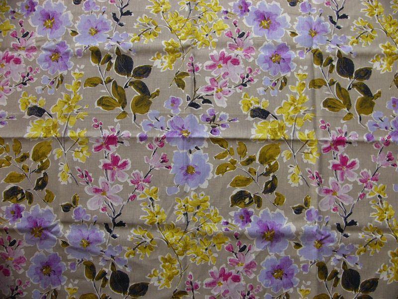 画像1: 「即納F」廃盤はぎれ75×50:フリーダム(麻ベース、ピンク・紫・草色) /95g (1)
