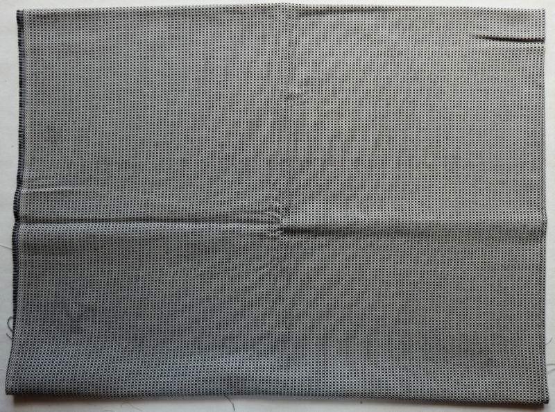 画像1: 「即納J」廃盤はぎれ70x50:アカデミア(赤ライン、クリーム) /100g (1)
