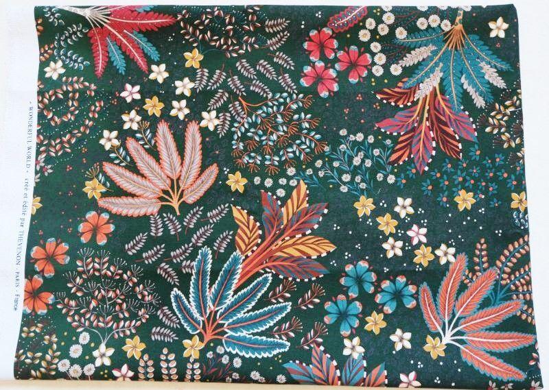 画像1: 「即納F」廃盤はぎれ70×50:サイケ・スター(マリンブルー) / 120g (1)