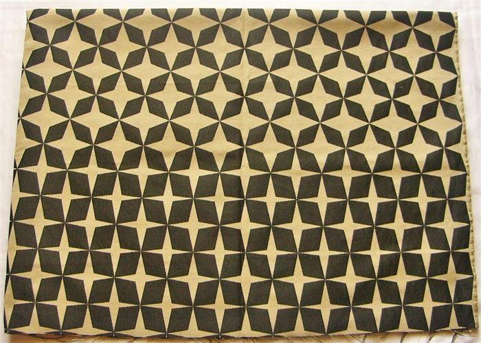 画像1: 「即納J」廃盤はぎれ70×50:サイケ・スター(黒) / 120g (1)