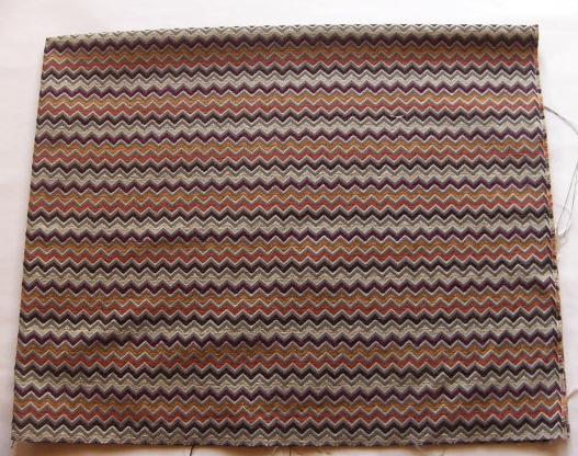画像1: 「即納F」廃盤はぎれ70×50:レンツォ(ブラウン・テラコッタ・紫) / 225g (1)