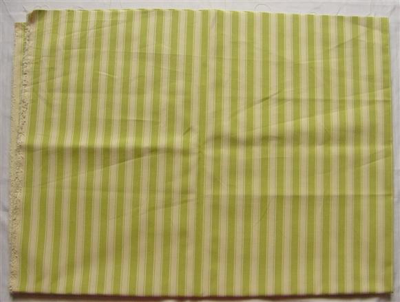 画像1: 「J即納」はぎれ70×50:ルーアン(ストライプ、アニスグリーン)/ 95g (1)