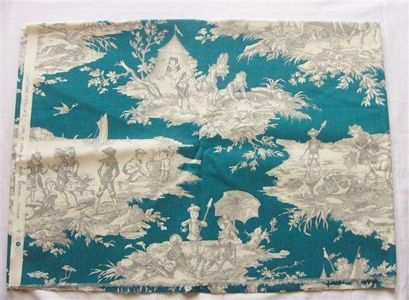 画像1: 「J即納/F在庫」はぎれ70×50:水の物語(ブルーグリンベースグレイ) / 95g (1)