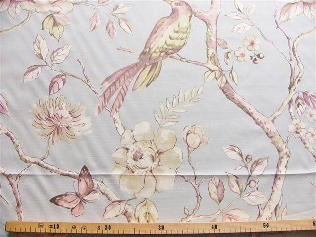 画像1: 「F在庫」はぎれ68×100:ダヴデイル(鳥、ヴィンテージブルー) (1)