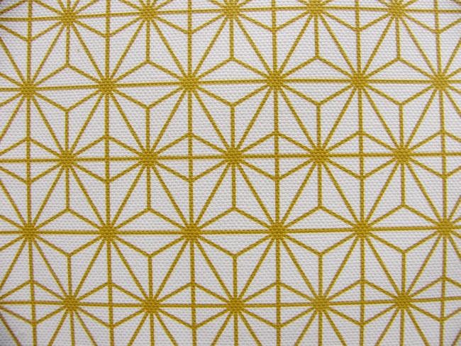 画像1: 「即納F」はぎれ70×50:ソレイユ・ドリエント(クリームベースマスタード) / 90g (1)