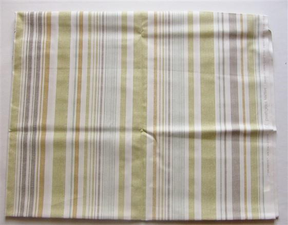 画像1: 「即納F」廃盤はぎれ68x50:エジャートン(ストライプ、ライトグリーン・カーキ系) /100g (1)