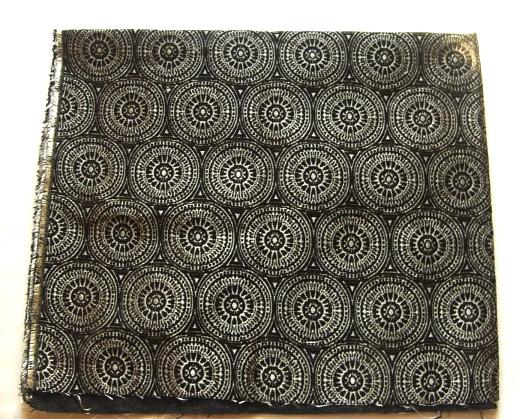 画像1: 「即納F」はぎれ69×50:フォルマントラ(黒・ブロンズ) / 150g (1)